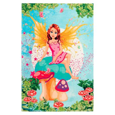 Tapis de chambre de fille multicolore polyester Mermaid