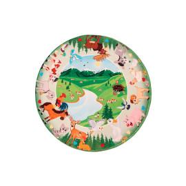 Tapis rond pour chambre enfant multicolore Mountains