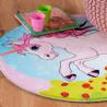 Tapis rond pour fille multicolore polyester Eglantine
