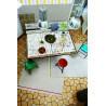 Tapis à frange blanc et vert Flashing Up par Esprit Home