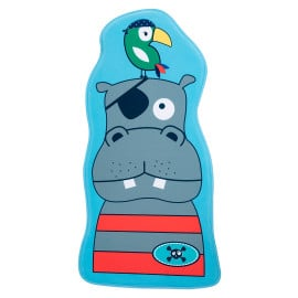 Tapis enfant lavable en machine multicolore Hippo