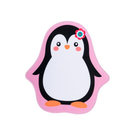 Tapis multicolore antidérapant lavable en machine fille Penguin
