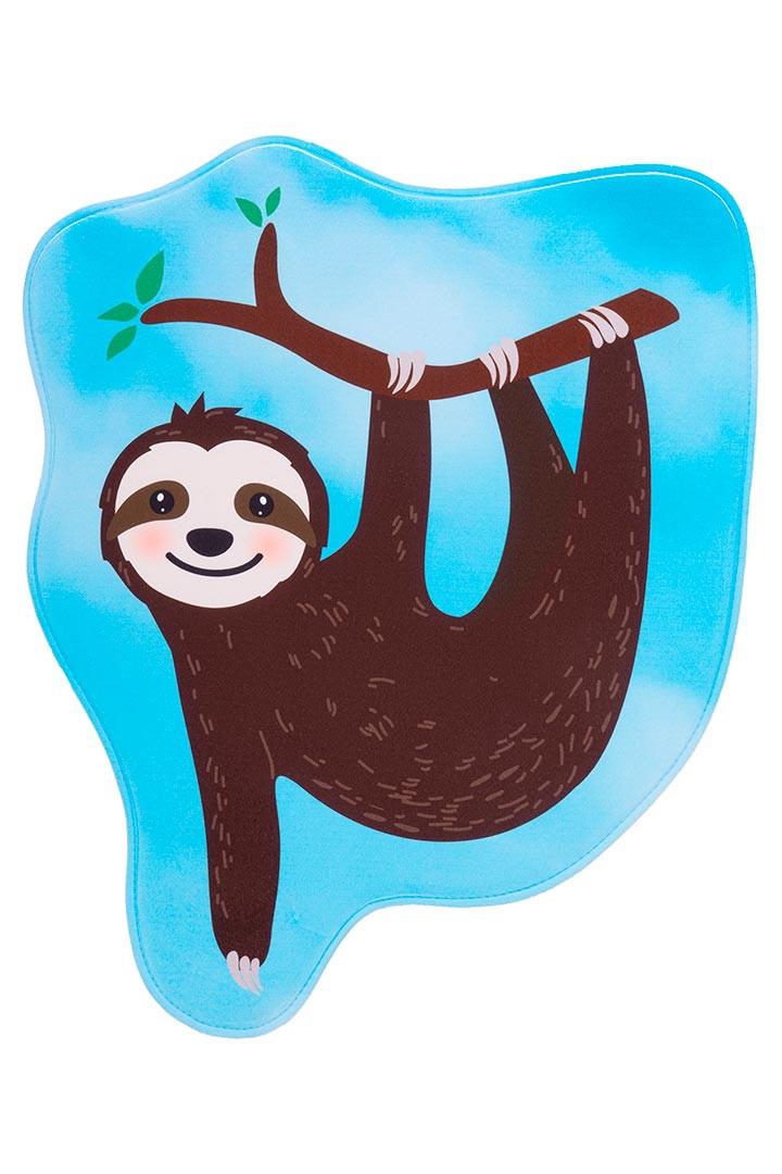 Tapis antidérapant enfant lavable en machine multicolore Sloth