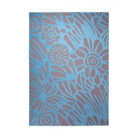 Tapis tissé gris et turquoise Finally Summer par Esprit Home