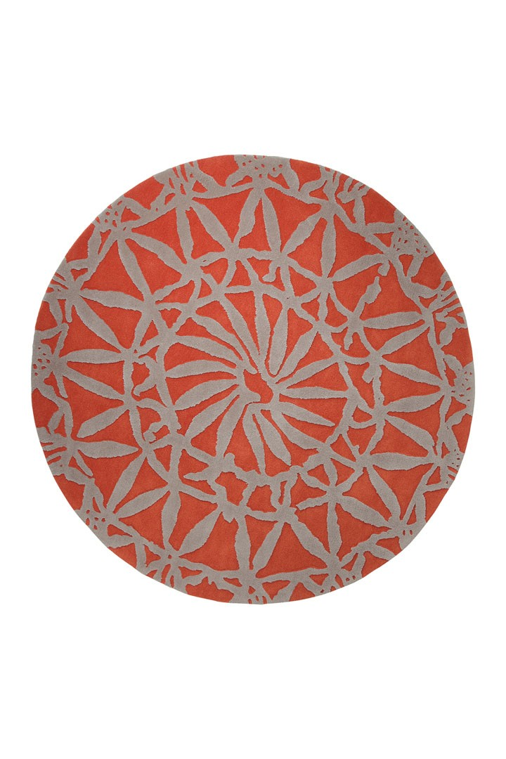 Tapis rond orange Oriental Lounge par Esprit Home