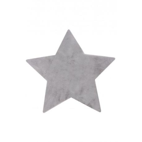 Tapis lavable en machine enfant argenté doux Star