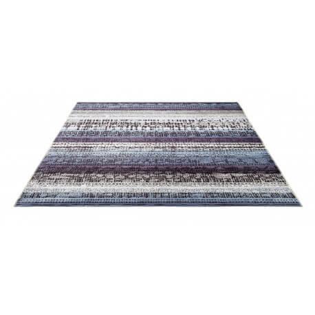 Tapis imprimé en acrylique bleu Graphic Edge par Esprit Home