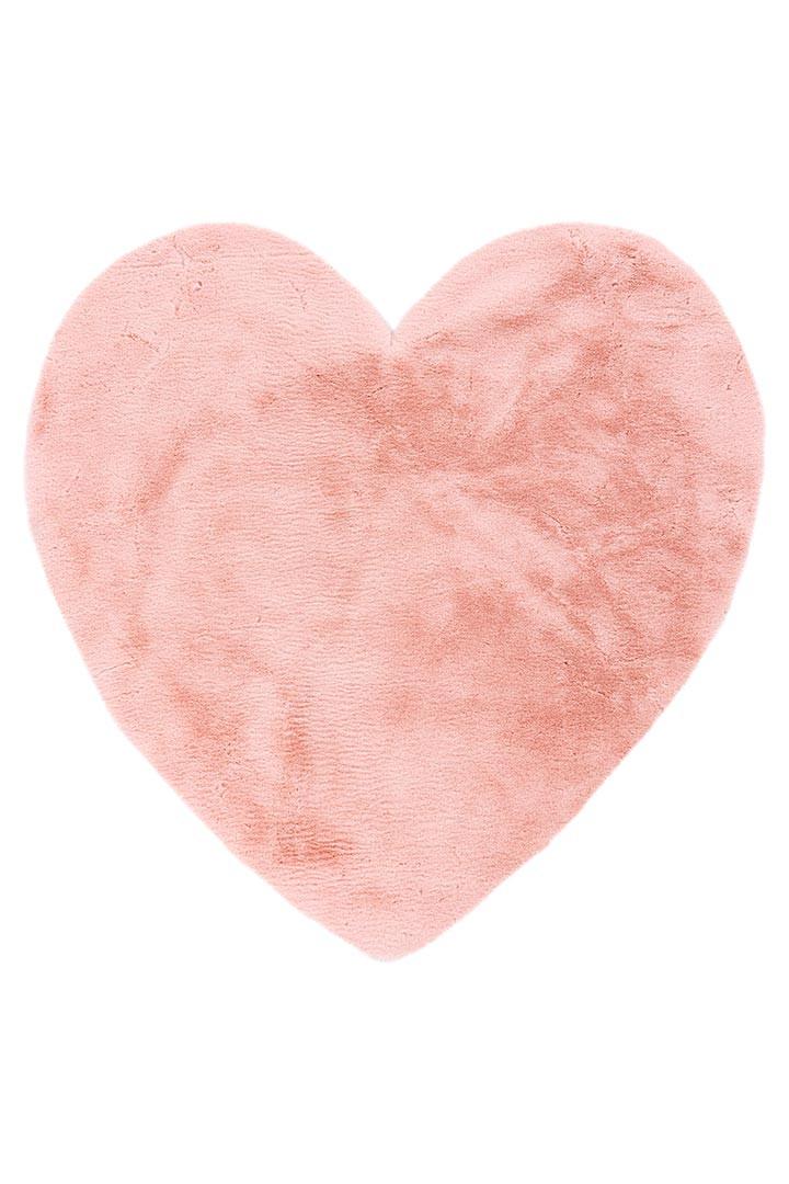 Tapis antidérapant rose enfant doux Cœur