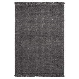 Tapis naturel en laine et viscose rectangle tissé main Tanguro