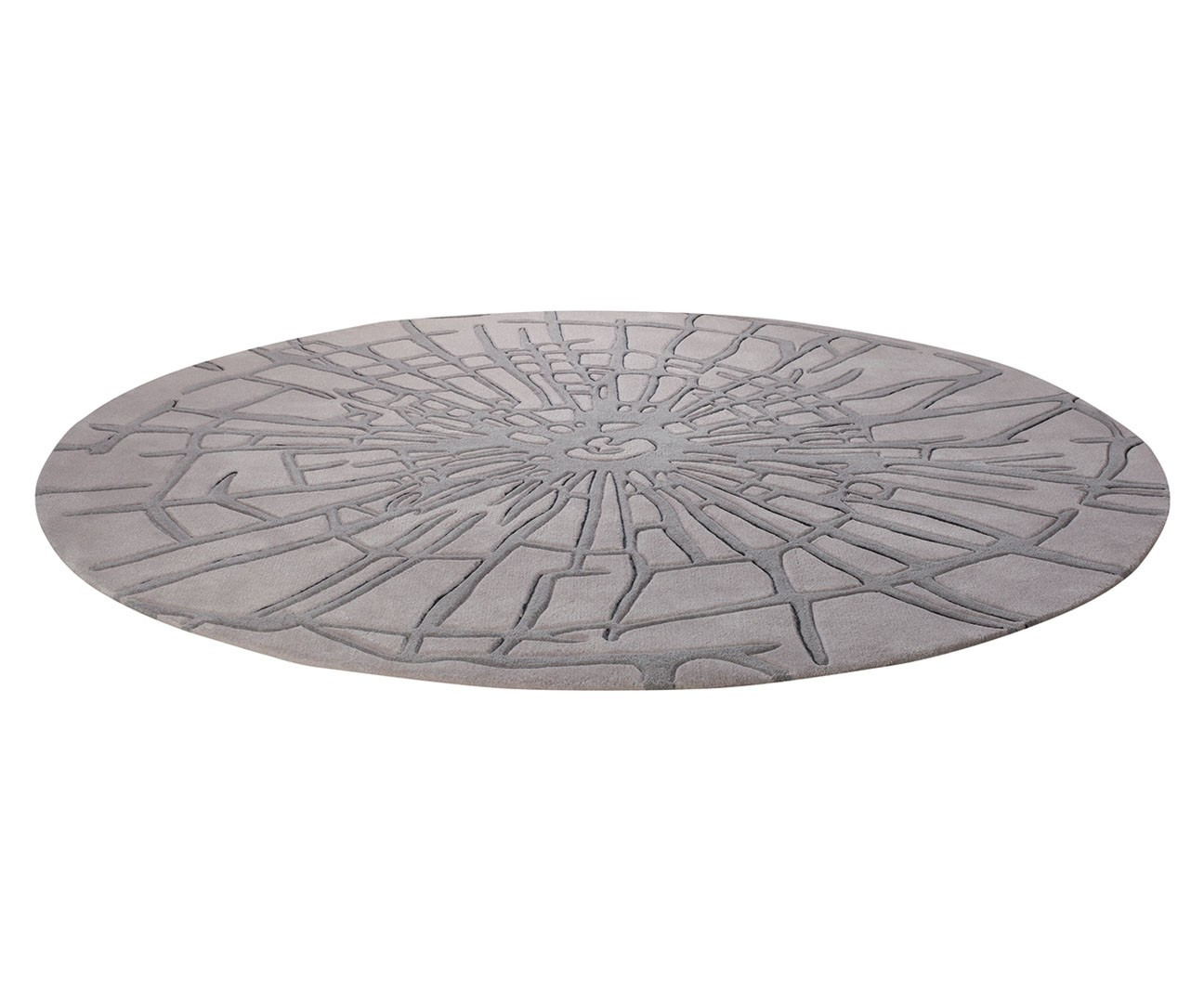 Tapis rond gris wood par esprit home - Coupon reduction maison du monde ...