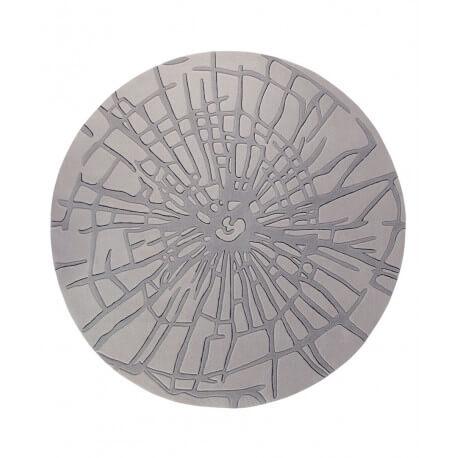 Tapis rond gris Wood par Esprit Home