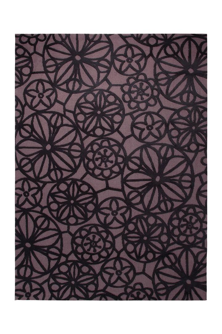Tapis plat moderne noir Society Circle par Esprit Home