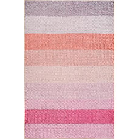 Tapis de chambre en polyester rayé design rose Clifton Esprit