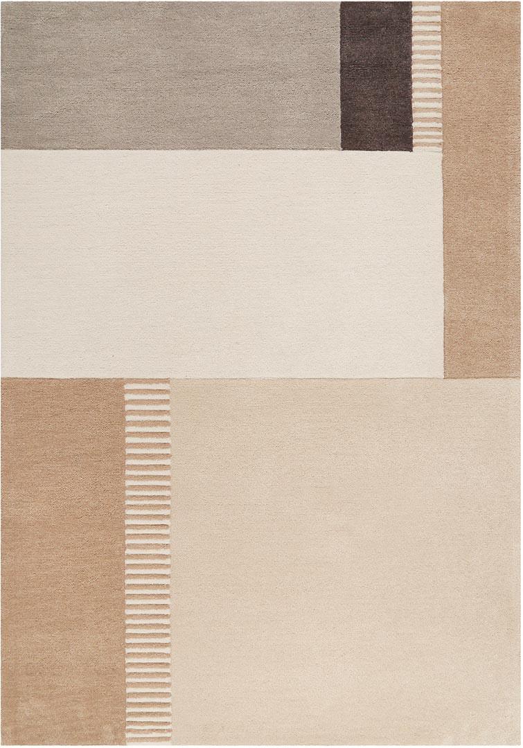 Tapis beige géométrique design rectangle Simon's Town Esprit