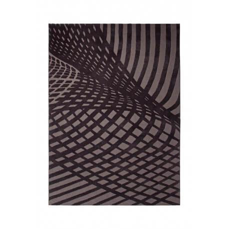 Tapis d'intérieur en acrylique noir Vector par Esprit Home