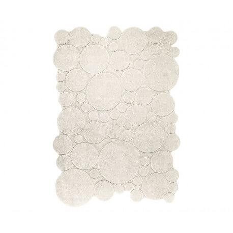 Tapis moderne uni crème Circle par Esprit Home