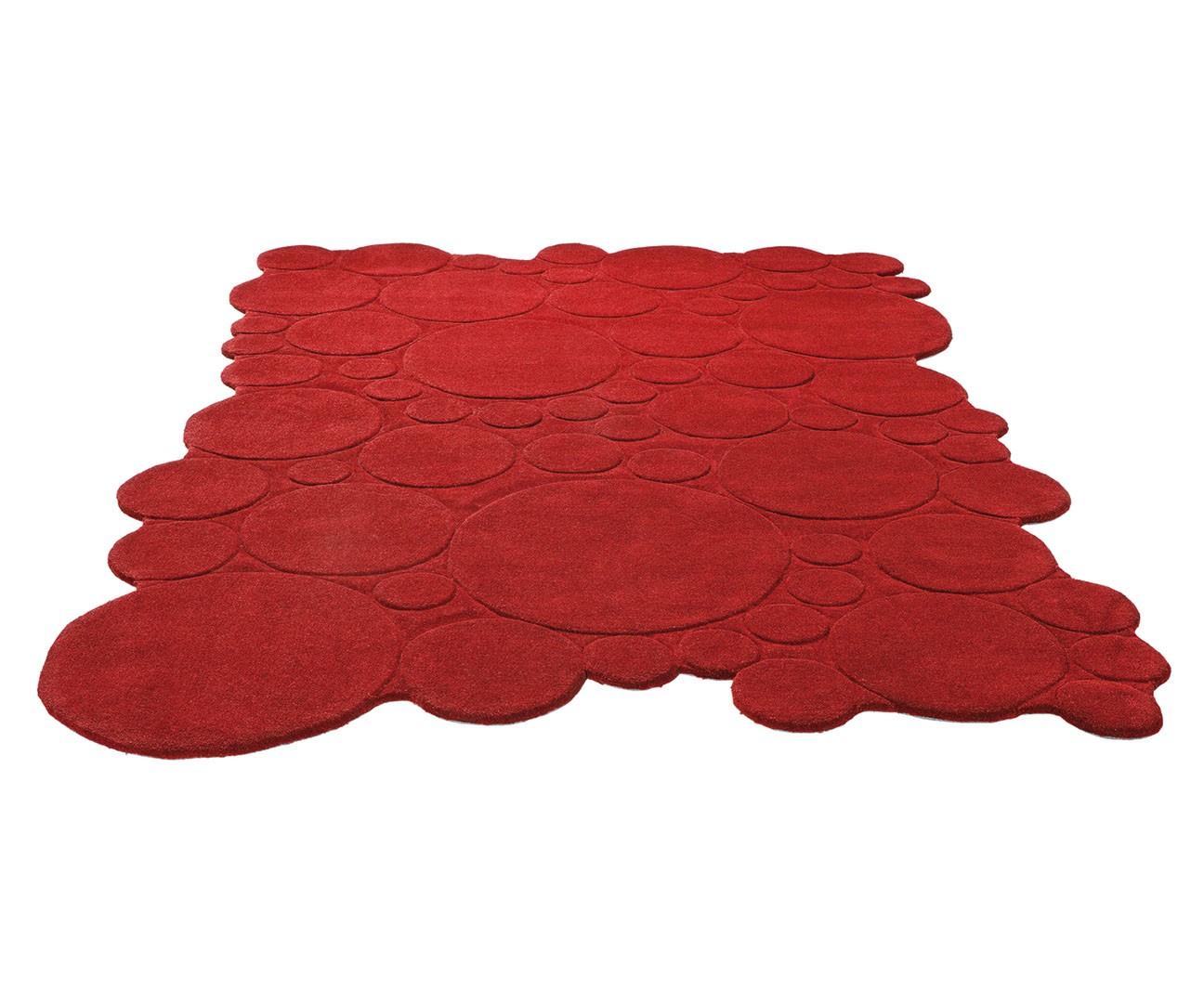 Tapis Moderne Uni Rouge Circle Par Esprit Home