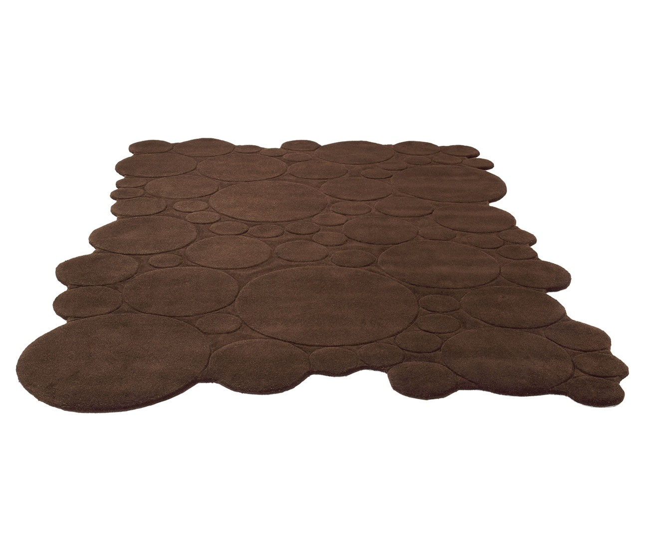 tapis moderne uni marron circle par esprit home - Tapis Marron