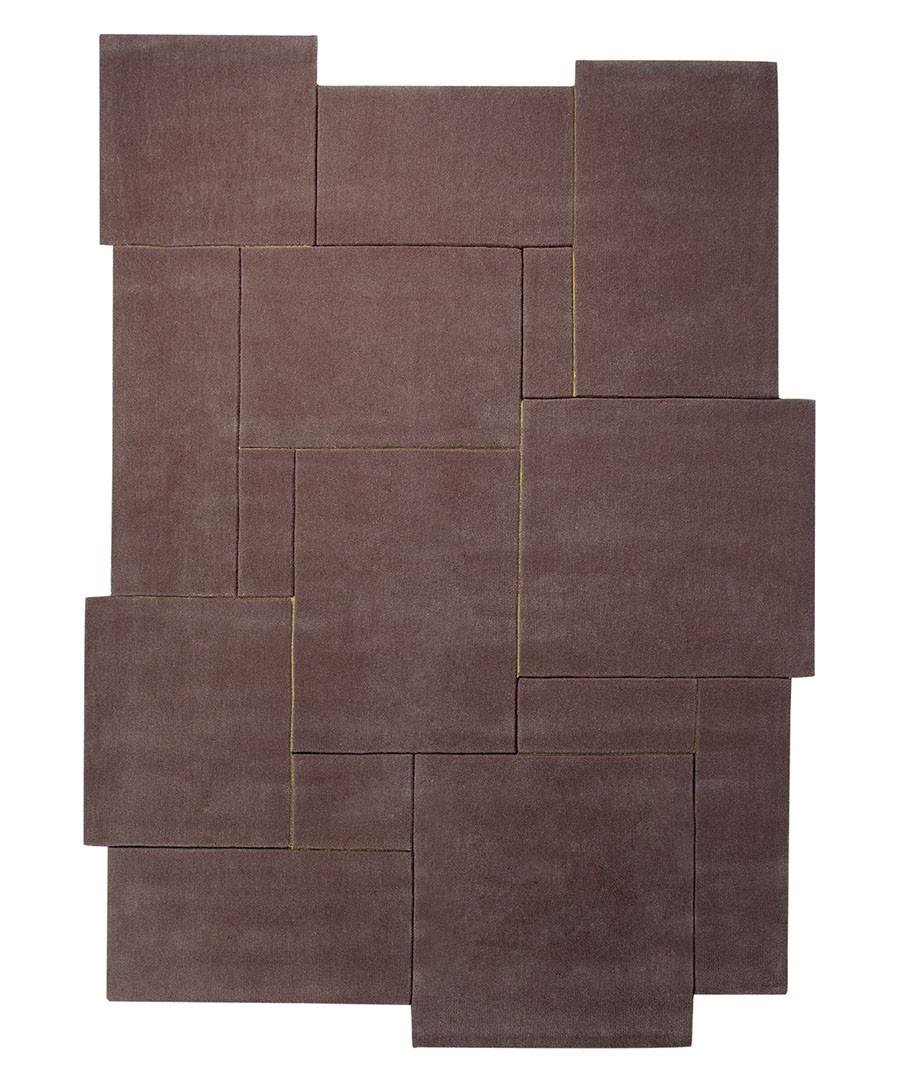Tapis design tufté main marron Puzzle par Esprit Home