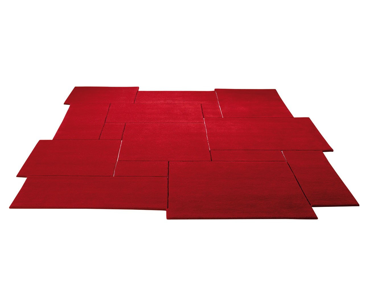 tapis design tuft main rouge puzzle par esprit home. Black Bedroom Furniture Sets. Home Design Ideas