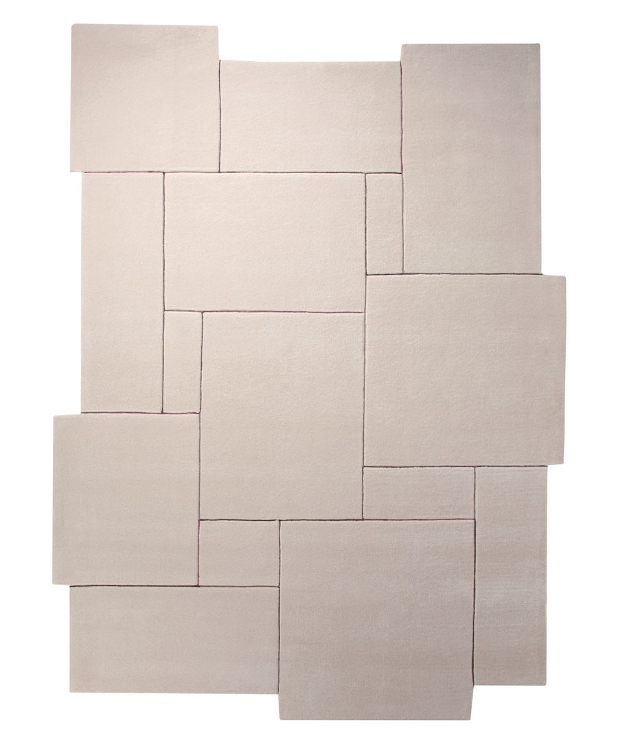 Tapis design tufté main crème Puzzle par Esprit Home