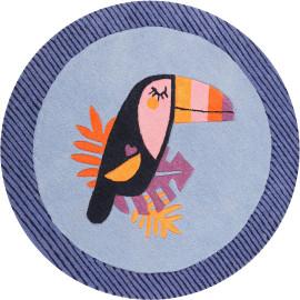 Tapis rond enfant en polyester Toucan Esprit