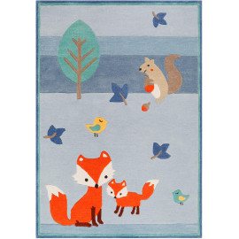 Tapis de chambre enfant rectangle Fox in the wood Esprit