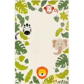 Tapis enfant rectangle animal beige Safari Esprit