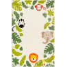 Tapis enfant rectangle animal beige Safari Esprit