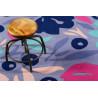 Tapis floral en polyester design Flower Capsul Esprit