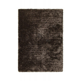 Tapis shaggy uni marron New Glamour par Esprit Home