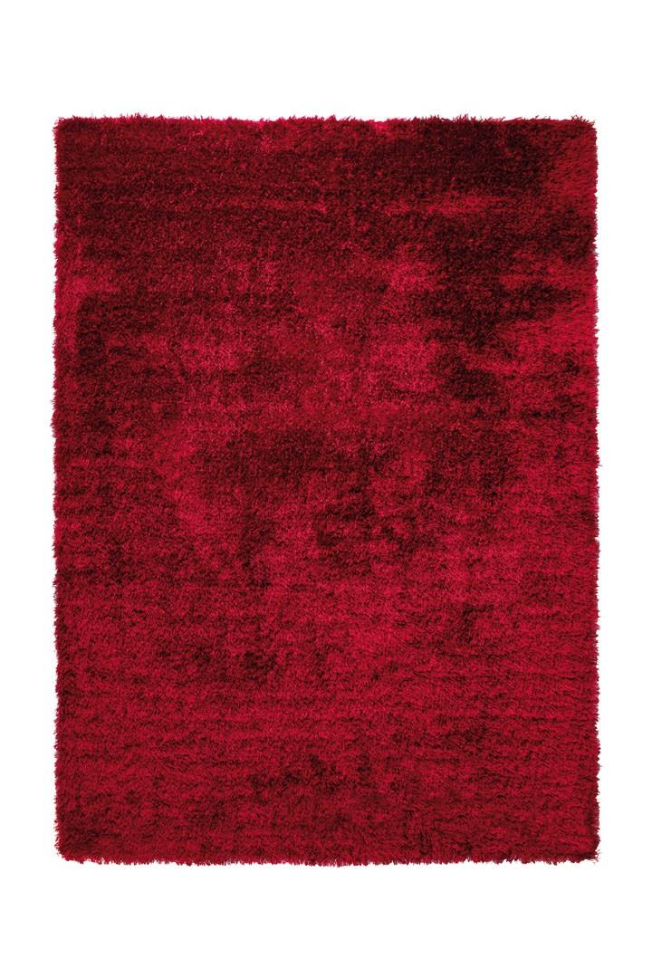 Tapis shaggy uni rouge New Glamour par Esprit Home