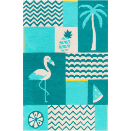 Tapis enfant animal rectangle Fruity Flamingo Smart Kids