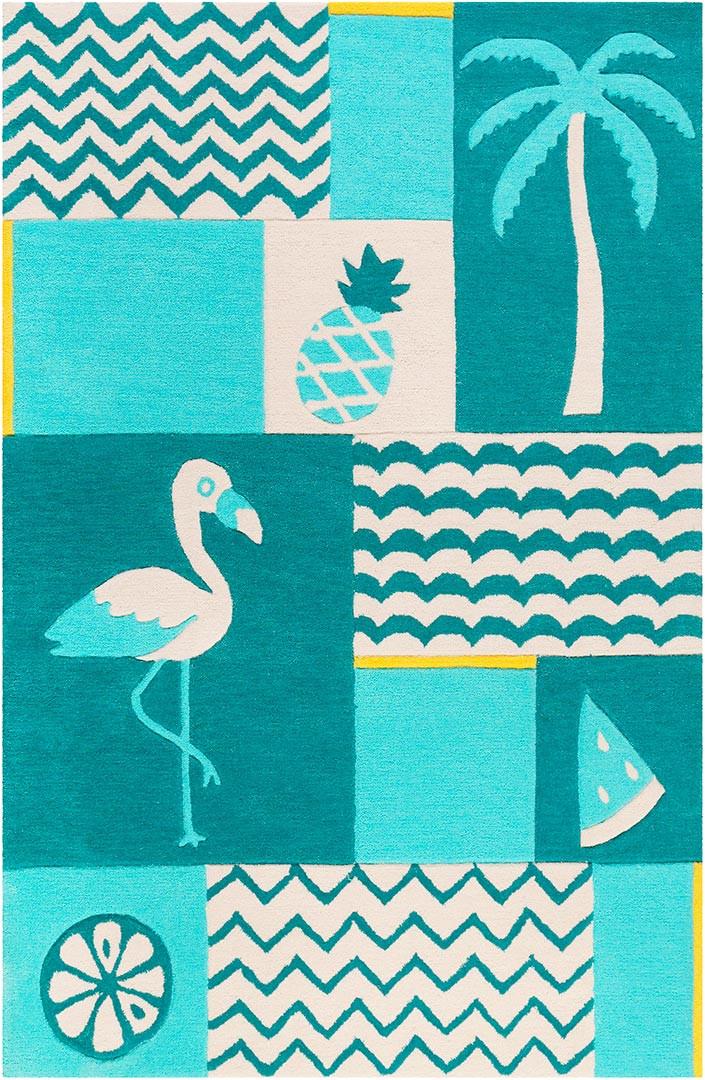 Tapis enfant animal rectangle Fruity Flamingo Smart Kids