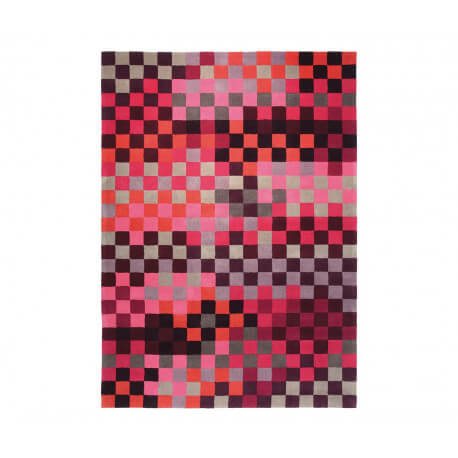 Tapis en acrylique rose Pixel par Esprit Home