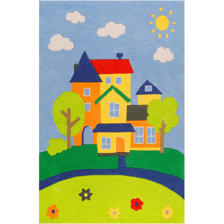 Tapis multicolore enfant rectangle Villa Villakulla Smart Kids