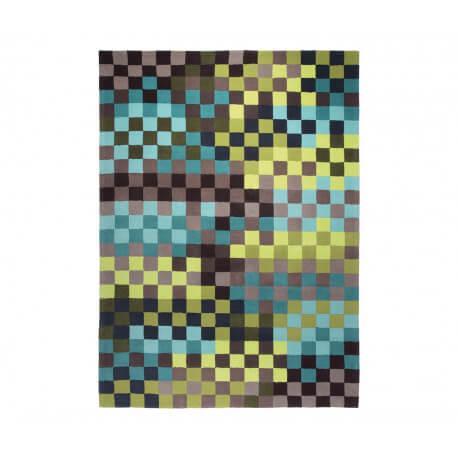 Tapis en acrylique bleu Pixel par Esprit Home