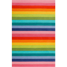 Tapis enfant rayure multicolore Rainbow Stripes Smart Kids