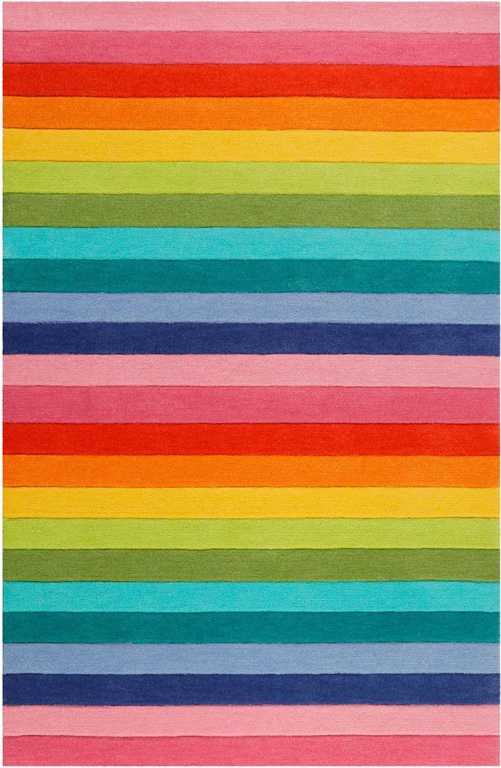 Tapis enfant rayure multicolore Rainbow Stripes Smart Kids