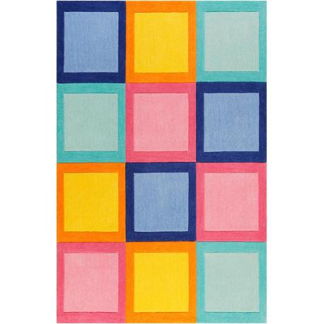 Tapis de chambre enfant carré coloré Domino Day Smart Kids