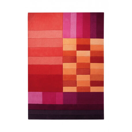 Tapis rectangulaire aux velours fins rouge Various Box par Esprit Home