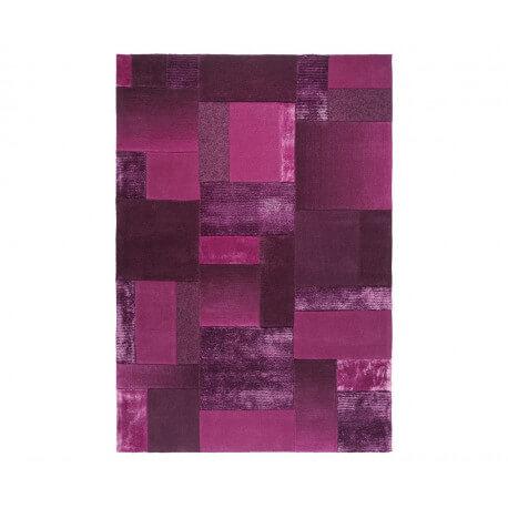 Tapis en acrylique et viscose violet Patchwork par Esprit Home