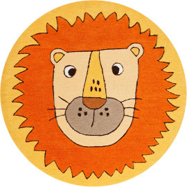 Tapis rond enfant orange Linus Smart Kids