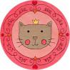 Tapis pour fille rose Lotti Queen Smart Kids