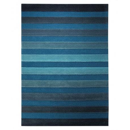 Tapis de salon bleu Cross Walk par esprit Home