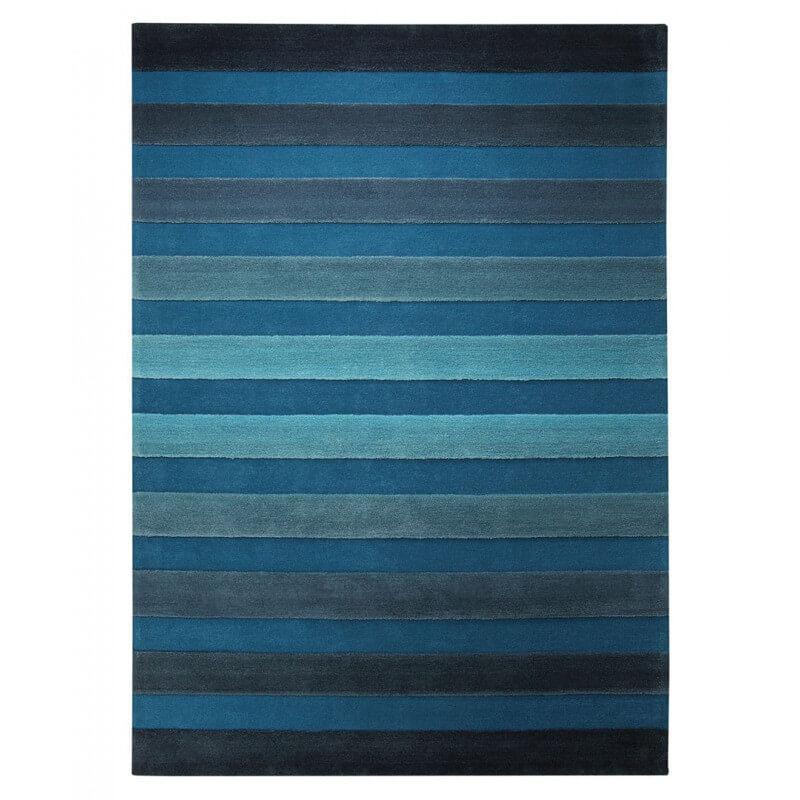 tapis de salon bleu cross walk par esprit home - Tapis De Salon Bleu