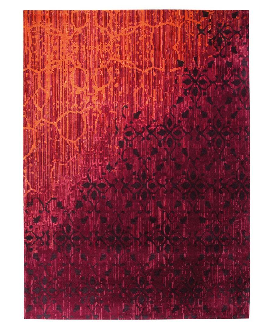 Tapis tissé imprimé rouge Vintage par Esprit Home