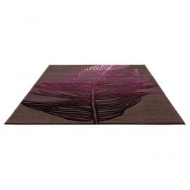 Tapis contemporain rectangle marron Feather par Esprit Home