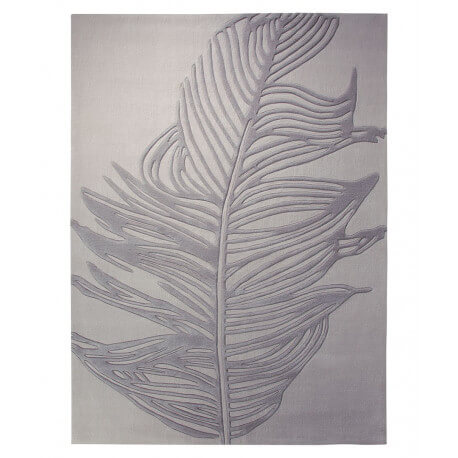 Tapis contemporain rectangle gris Feather par Esprit Home