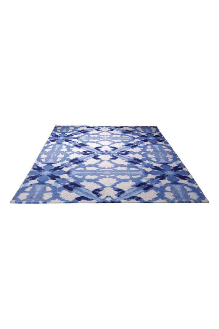 tapis moderne de salon bleu blue abstract par esprit home. Black Bedroom Furniture Sets. Home Design Ideas